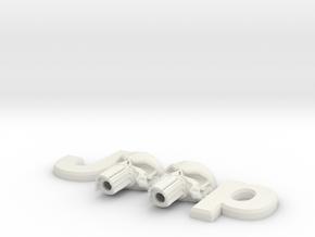 #CuzitsCustom 3D Punisher Skulls (SM-OEM) in White Premium Versatile Plastic
