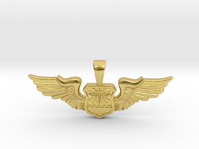 Wingwoman - Navigator Pendant in Polished Brass