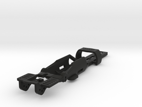 HO Slot Car Chassis - SL2-Mk4 release in Black Natural Versatile Plastic