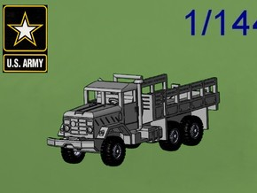 1/144 M923 5t Cargo Truck in White Strong & Flexible Polished