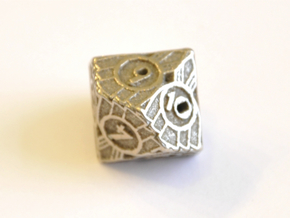 D10 Balanced - Art Deco in Polished Bronzed Silver Steel
