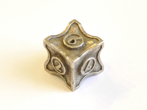 D6 Balanced - Art Deco in Polished Bronzed Silver Steel