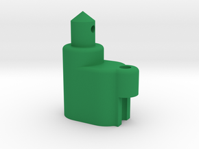 Rounded Battery Post with Attenna Mount in Green Processed Versatile Plastic