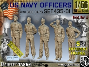 1/56 USN Officers Set435-01 in Smooth Fine Detail Plastic