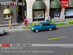 Volvo 240 Saloon (British N 1:148) in Smoothest Fine Detail Plastic