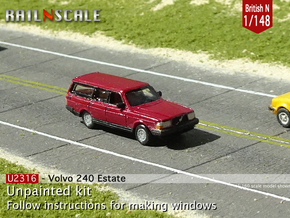 Volvo 240 Estate (British N 1:148) in Smoothest Fine Detail Plastic