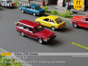 Volvo 240 Estate (TT 1:120) in Smooth Fine Detail Plastic