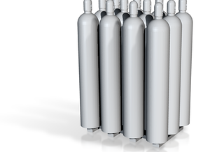 1:50 Gas Cylinders Pack of twelve  in White Processed Versatile Plastic