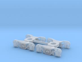 N Scale PRR 2DP3 Passenger car truck 2PK in Smoothest Fine Detail Plastic