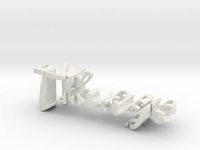 3dWordFlip: Thiago/07101986 in White Natural Versatile Plastic