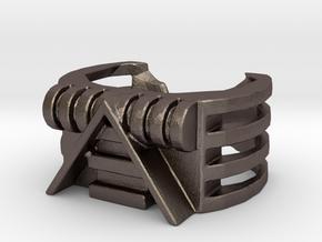 Male V Hacks Time Traveler Module 6 in Polished Bronzed-Silver Steel