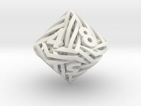 Helix d10 in White Natural Versatile Plastic