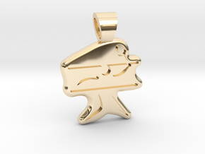 Badminton [pendant] in 14k Gold Plated Brass