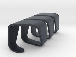 Miniature Modular Bench DNA - True Design in Black PA12: 1:12