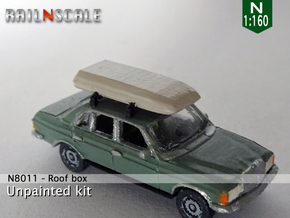 Roof box (N 1:160) in Smoothest Fine Detail Plastic