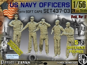 1/56 USN Officers Set437-03 in Smooth Fine Detail Plastic