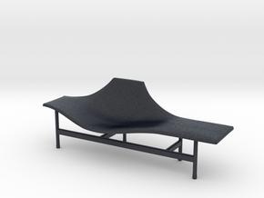Miniature Terminal 1 Lounge Chair - BebItalia in Black PA12: 1:12