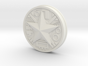 Zeo Ranger Legacy Power Coin in White Natural Versatile Plastic