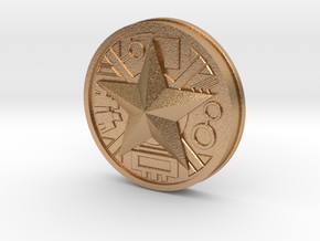 Zeo Ranger Legacy Power Coin in Natural Bronze