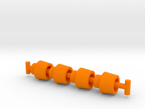 Lobros Cuffs in Orange Processed Versatile Plastic