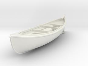 1/72 USN 26 foot Type H Motor Surfboat in White Natural Versatile Plastic