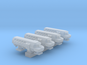 1/1000 Scale Moonbus High Detail x4 in Smooth Fine Detail Plastic