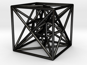 Cubical 24-Cell in Matte Black Steel