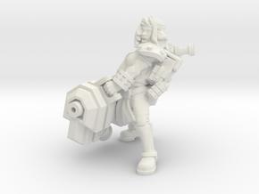 Miner Heavy Ion Cannon in White Natural Versatile Plastic
