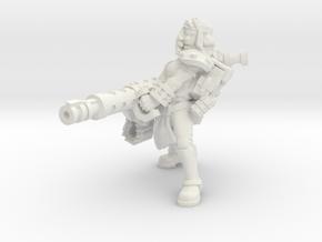 Miner Heavy machine cannon in White Natural Versatile Plastic