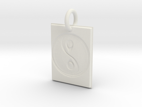 Vicies Picies - Sacred Geometry in White Natural Versatile Plastic: Extra Small