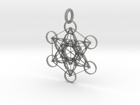 Metatron Sacred Geometry in Gray PA12: Extra Small
