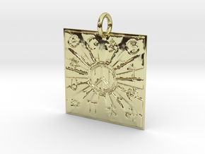 Unity Of Religions For World Peace in 18K Yellow Gold: Extra Small