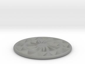 coaster fat pinwheel flat bottom in Gray Professional Plastic