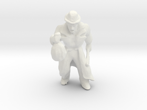 HO Scale Robber in White Natural Versatile Plastic