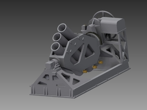 Squid Starboard mortar 1/96 in Smooth Fine Detail Plastic