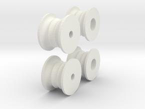 LOADER WHEELS in White Natural Versatile Plastic