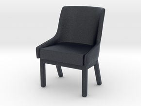 Miniature Albert One Chairs - Werther Toffoloni in Black Professional Plastic: 1:12