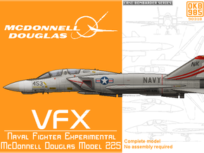 McDonnell Douglas Model 225A VFX in Black Natural Versatile Plastic: 1:200
