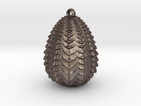 Dragon Egg Pendant in Polished Bronzed-Silver Steel