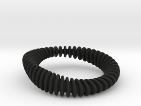 BRACELET_WAVE 01a3 smaller in Black Natural Versatile Plastic