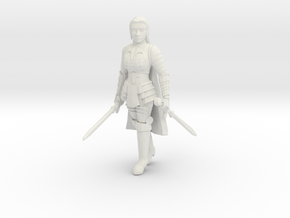 Human Fighter in White Natural Versatile Plastic