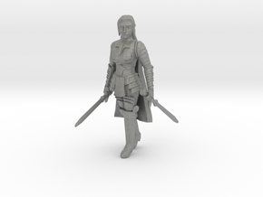 Human Fighter in Gray Professional Plastic