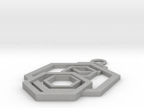 Geometrical pendant no.5 in Aluminum: Small