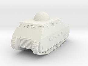 Fiat 2000 Italian WW1 Tank - 1/285 (Qty. 1) in White Natural Versatile Plastic