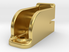"""Camel Co Door Track Support - 2.5"""" scale in Polished Brass"""