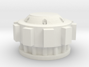 Imperial Knight Main Reactor extension in White Natural Versatile Plastic