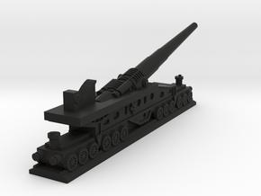 340mm/45 Modèle 1912 Railroad Gun (France) in Black Premium Versatile Plastic