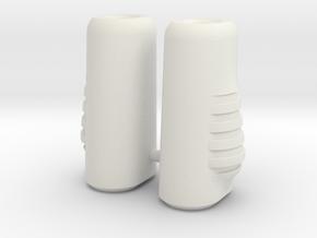 Dart Boots in White Natural Versatile Plastic