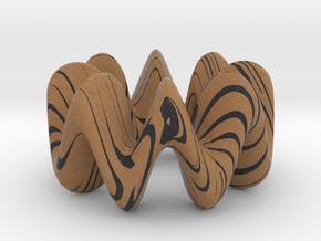 wood grain wiggly torus in Full Color Sandstone