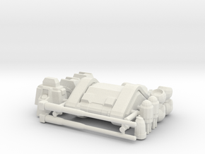 RX-75 Mass Production Guntank in White Natural Versatile Plastic: 1:400